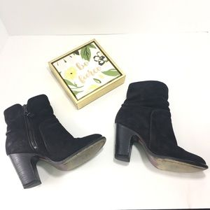 Rag and Bone Black Suede  Zip Up ankle boots Sz 5